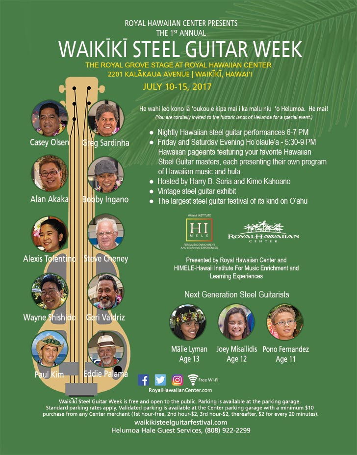 2017 Waikiki Steel Guitar Week Poster